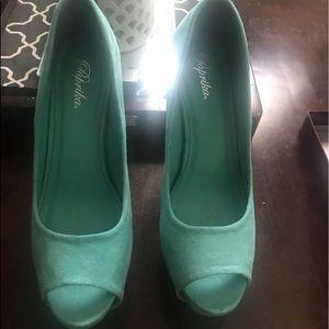 Paprika Platform Peep-toe heels